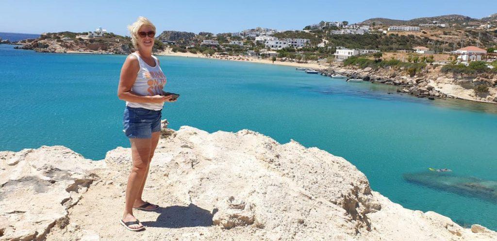 Amoopi Beach, blauw water, Karpathos