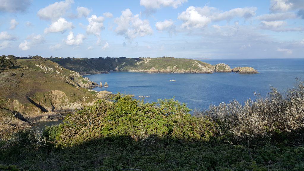 zeezicht, Kanaaleilanden, Jersey, Guernsey