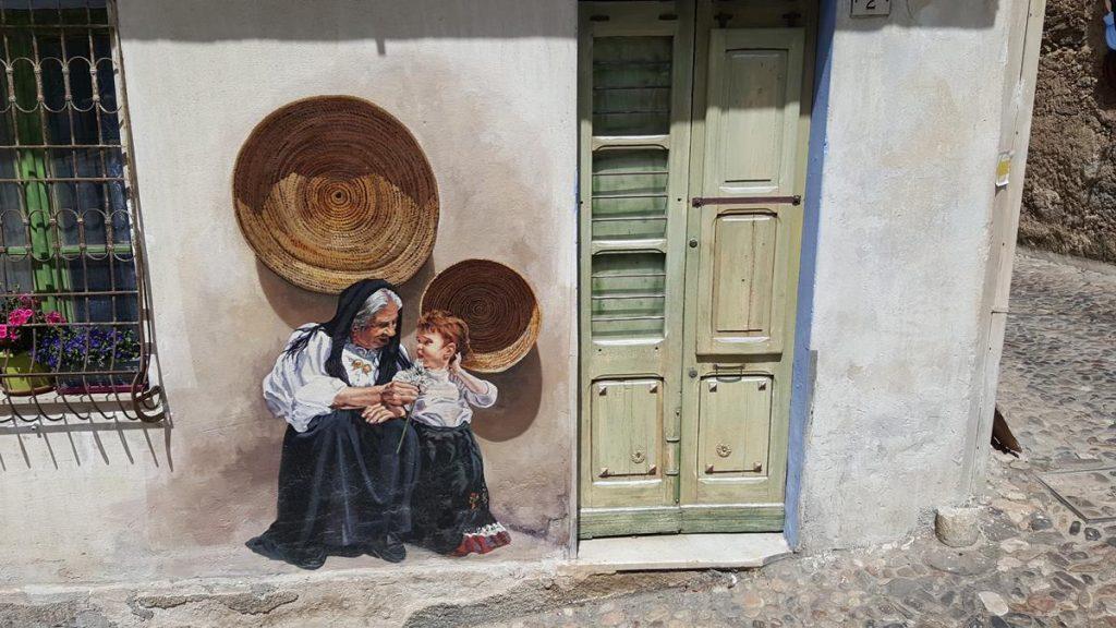 muurschildering in Oliena