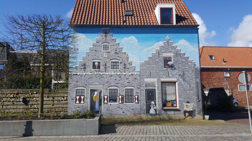 Zeeland, dagje uit, dagje weg, muurschildering, Maarplein, Nederland
