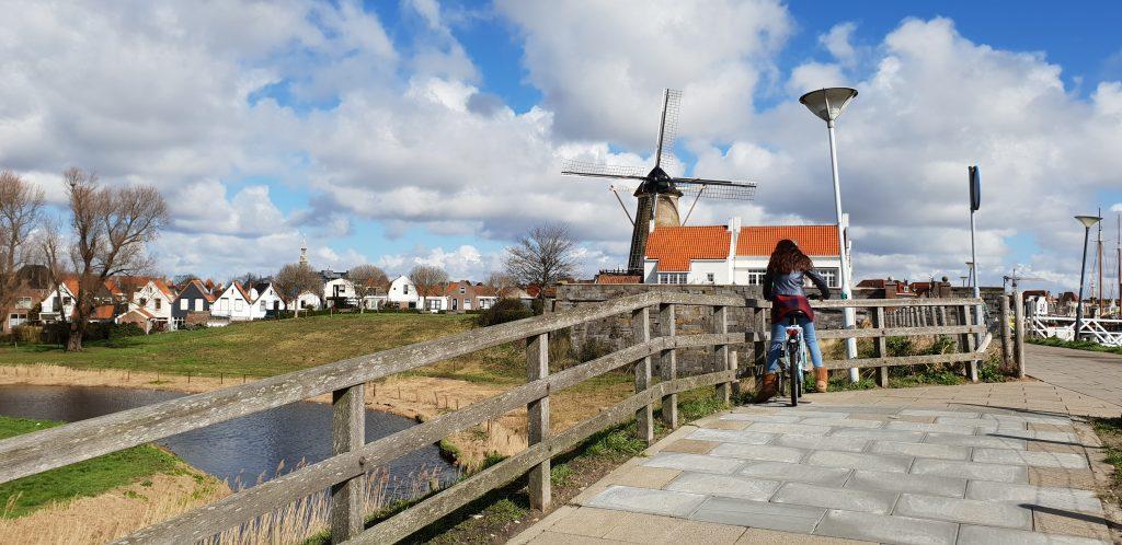 fietsen, Havendijk, Nederland