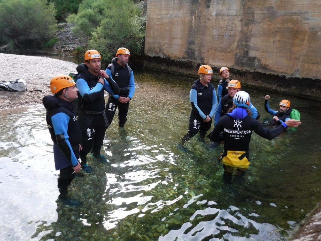 canyoning in Sierre de Guara in Aragon Spanje
