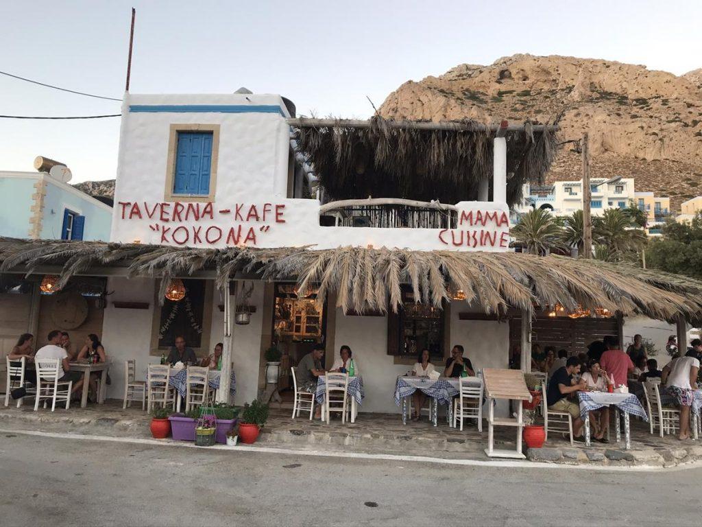 Finike, Karpathos. Grieks eten