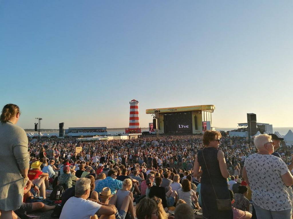 Concert at Sea op de Brouwersdam, zomervakantie in Nederland