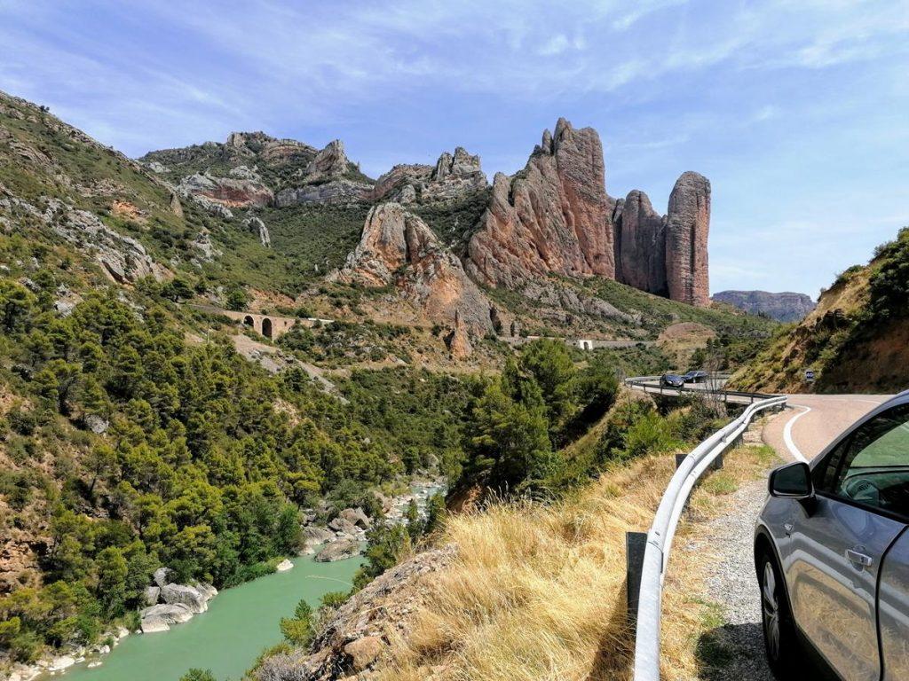 Mallos de Riglos, de rotsformaties in Aragon