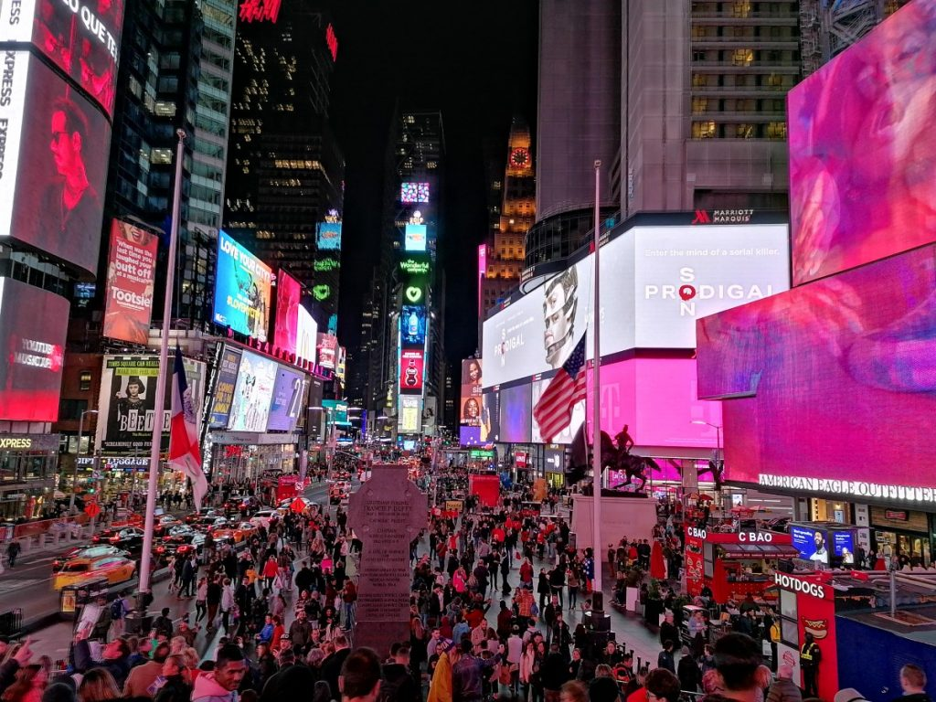 Time Square, New York, city trip, travelblog
