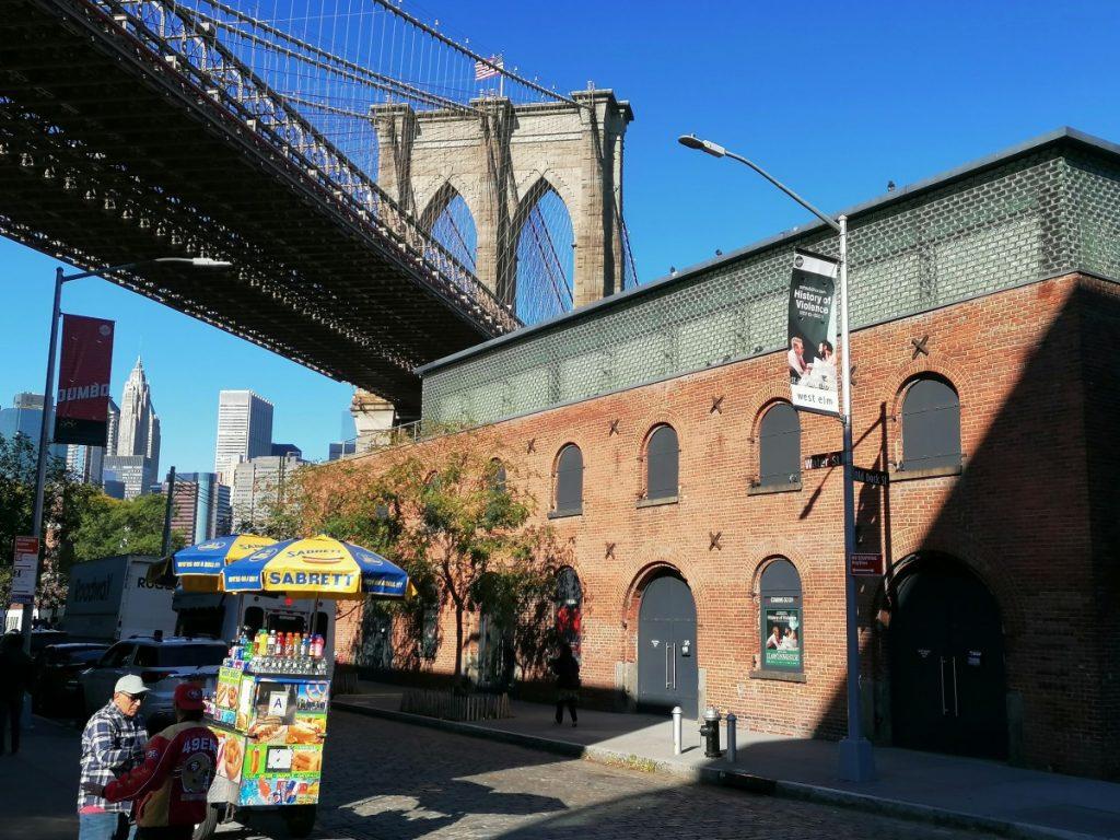 Brooklyn Bridge, Skyline, New York, Midtown, citytrip, stedentrip, Amerika