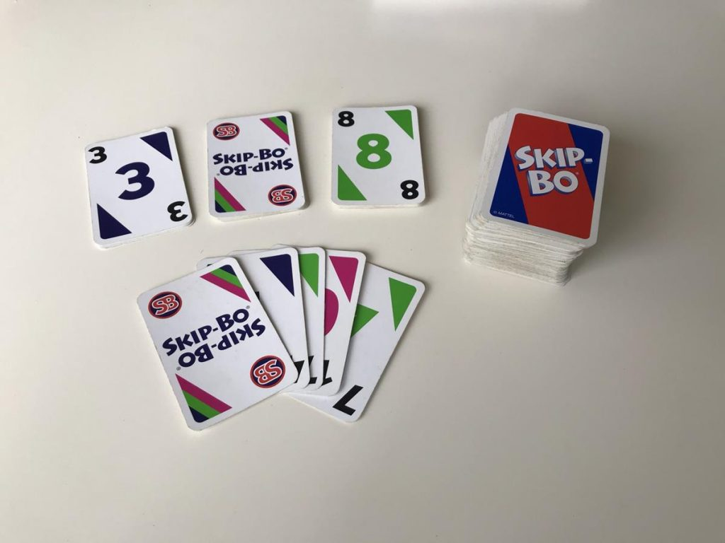 het kaartspel Skipbo