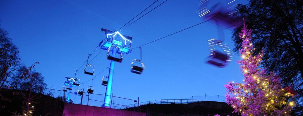 de kabelbaan van Winter Wonderland